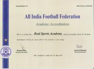 Academy Accreditation Cert 2016-2017